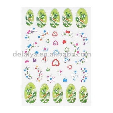 Stickers ongles 3D non toxique