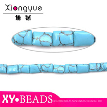 10X14MM Square naturel bijoux Turquoise Pierre billes