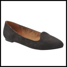 Chegada nova Moda Potinted Toe Flat Largura Largura Calçados Femininos (HCY02-1523)