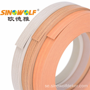 PVC Edge Banding Matt Finish Solid Wood-grain
