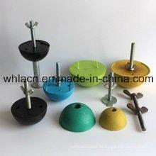Baumaterial Gummi-Aussparung für Betonanker (BLAU, GELB, SCHWARZ)