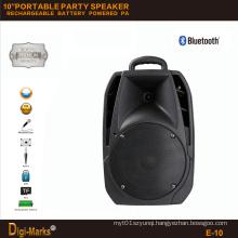 10′′ Mobile Party DJ Wireless Karaoke Trolley Bluetooth Active Speaker