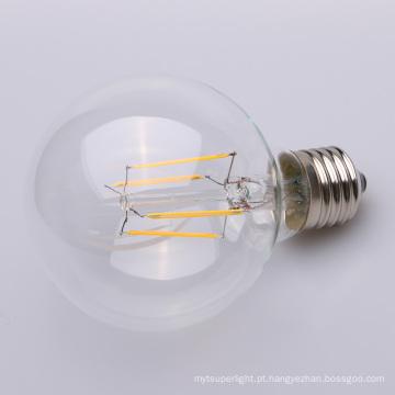 Diodo emissor de luz E27 do filamento reto de 4w 6w 8w Dimmable espaço livre 80mm 95mm 125mm G80 G95 G125