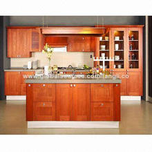 Wooden Birch Kitchen Cabinet, Solid Wood for Cabinet Door and Plywood Carcass, UV Finish