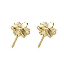 95961 xuping venta al por mayor moda barata diseño simple 24k color oro pendientes del perno prisionero de las mujeres