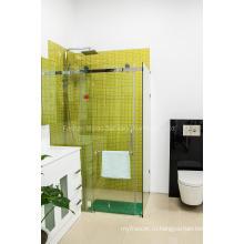 AS / NZS2208 стеклянная бескаркасная ванная комната с душевой кабиной (H001E)