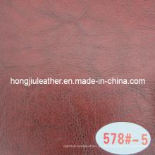Cuero artificial rojo para muebles (Hongjiu-578 #)