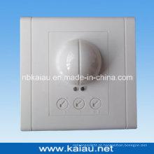 Interruptor de sensor de movimento de microondas de microfone de parede de tipo quadrado