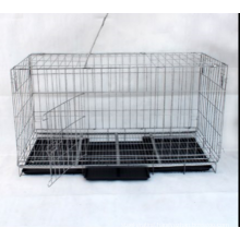 folded galvanized or pvc coated welded pet dog cage (factory)ISO14001