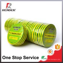 Изоляционные материалы элементов промышленной клейкой ленты желтого и зеленого ПВХ лейкопластырь ленты