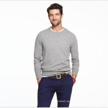 Jersey de cachemira de hombre de manga larga cuello redondo jersey de cachemir puro