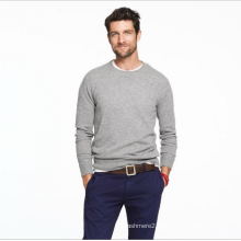 Men's cashmere sweater long-sleeved round collar pure cashmere knitting jumper