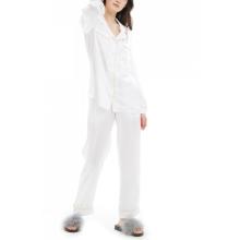Conjunto de pijama de manga larga 19Momme de seda y mora de manga larga