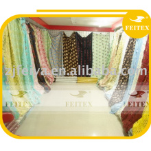 Tissus africains en gros de dentelle de coton de qualité / textile sec africain africain de voile de voile de sec / matériel textile bon marché