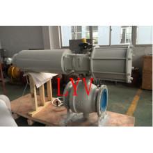 Válvula de bola flotante de acero inoxidable bridada clase 150