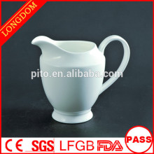 2015 New Design elegant white tall ceramic milk jug creamer pot