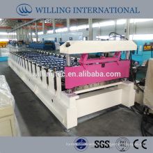 Hoja trapezoidal panel de pared de azulejos roll forming machine hot in indian