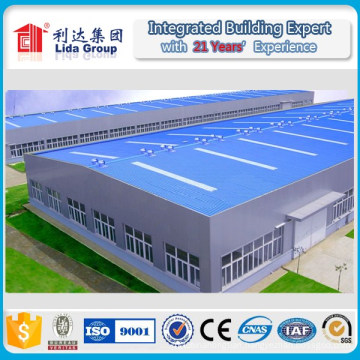 2016 New Design Light Steel Structure Warehouse by H Section Steel