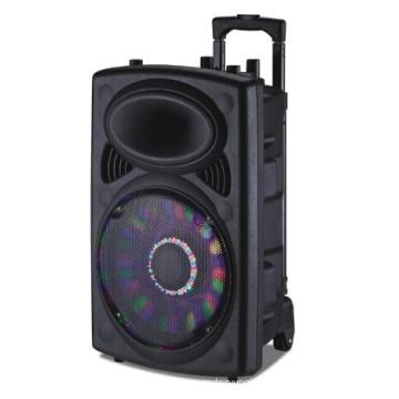 Big Power Mobile Square Trolley Speaker con batería de litio, micrófono inalámbrico para fiesta al aire libre 6814D