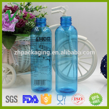cylinder clear 130ml plastic bottle pump for perfume packing
