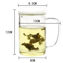 wiederverwendbare klar Glas Tasse mit Teefilter