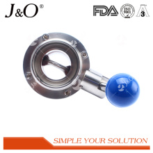 2016 Sanitary Clamp Butterfly Valve with Stainless Steel Pull Handle