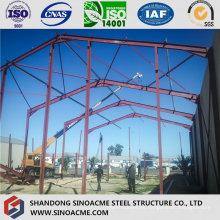 Instalación de estructura de acero del almacén móvil de marcos de portal