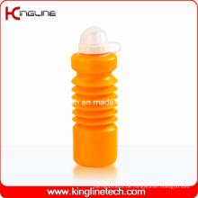 Plastik-Sport-Wasser-Flasche, Plastik-Sport-Wasser-Flasche, 600ml Plastik-Getränk-Flasche (KL-6640)