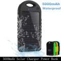 Doppel-USB 5000mAh wasserdichtes tragbares Solarenergie-Bank-Ladegerät