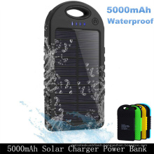 Dual USB 5000mAh Waterproof Portable Solar Power Bank Battery Charger