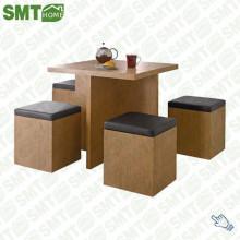 Sample MDF wood corner coffee table design dining sets save space