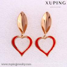 26523- Xuping Wholesale Heart Shape Ladies Drop Earrings Designs