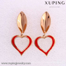 26523- Xuping gros coeur forme dames boucles d'oreilles conceptions