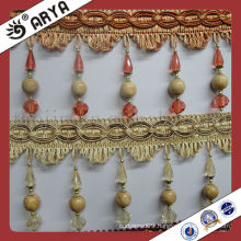 Wooden Beads Curtain tassel fringe trimming for cushions,,curtain and accessories of home decoration