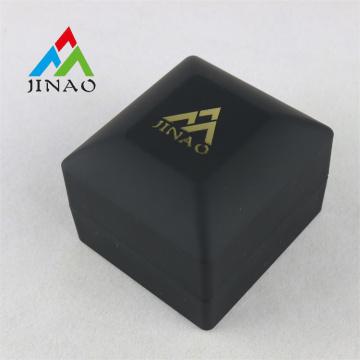 Pure Black Plastic Ring Box with LED Light