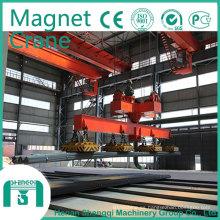 Fabricante 2016 de Shengqi grúa de arriba del imán de elevación de 10 toneladas