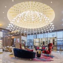 Lustre de sala de estar de projeto moderno e criativo de luxo