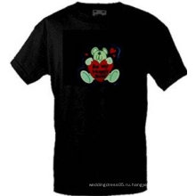 [Потрясающе]Оптовая моды горячей продажи футболки А55,El футболки,LED футболки