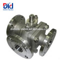 Diverter Trunnion Cf8m 1000wog 1000 Wog Psi Dn40 Electric Actuated 3 Way Stainless Ball Valve Tap