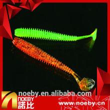 NOEBY atração de 12 cm de dupla cor molha de insetos de pesca marítima