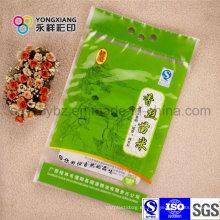 100% Bolsa de arroz de materia prima de HDPE con agujero de mango y aceptar pedido personalizado