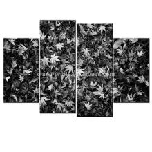 Black and White Leaves Art Print/Wall Decor Canvas Art/Giclee Canvas Print