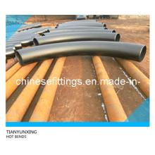 Seamless duplex acero inoxidable, carbono, aleación de tubo de acero curva