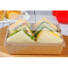 China Wholesale Brown Kraft Paper Standard Sandwich Packaging Box