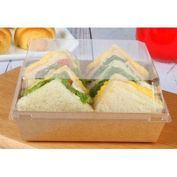 China Wholesale Brown Kraft Paper Standard Sandwich Packaging Box
