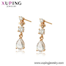 96947 xuping 18K gold color plated women simulation crystal earrings