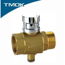 Válvula de bola de la medida de la temperatura del latón con precio barato en TMOK Valvula