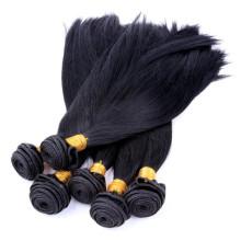 Weave reto indiano do cabelo da onda de seda