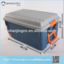 85Lplastic storage box bin with locking lid/ Turnover box