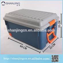 Ящик для хранения 85Lplastic ящика с блокировкой крышки/ коробка оборачиваемости